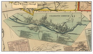 Willimantic Borough, Connecticut 1856 Windham Co. - Old Map Custom Print