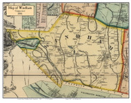 Windham, Connecticut 1856 Windham Co. - Old Map Custom Print