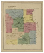 Burlington, Connecticut 1869 Hartford Co. - Old Map Reprint