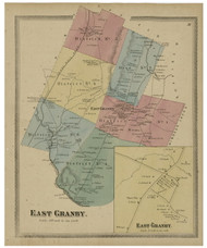 East Granby, Connecticut 1869 Hartford Co. - Old Map Reprint