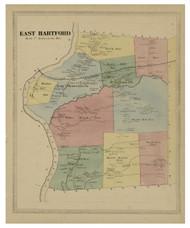 East Hartford, Connecticut 1869 Hartford Co. - Old Map Reprint