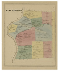 East Hartford, Connecticut 1869 Hartford Co. - Old Map Reprint
