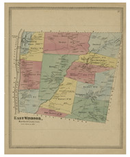 East Windsor, Connecticut 1869 Hartford Co. - Old Map Reprint