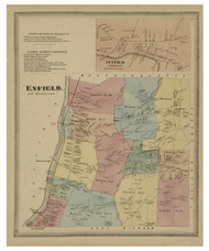 Enfield, Connecticut 1869 Hartford Co. - Old Map Reprint
