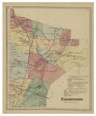 Farmington, Connecticut 1869 Hartford Co. - Old Map Reprint