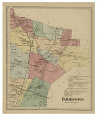 Farmington, Connecticut 1869 Hartford Co. - Old Map Reprint