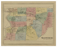 Glastenbury, Connecticut 1869 Hartford Co. - Old Map Reprint