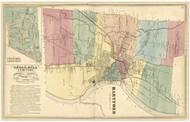 Hartford, Connecticut 1869 Hartford Co. - Old Map Reprint
