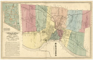 Hartford, Connecticut 1869 Hartford Co. - Old Map Reprint
