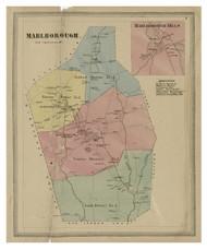 Marlboro, Connecticut 1869 Hartford Co. - Old Map Reprint