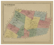 South Windsor, Connecticut 1869 Hartford Co. - Old Map Reprint