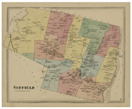 Suffield, Connecticut 1869 Hartford Co. - Old Map Reprint