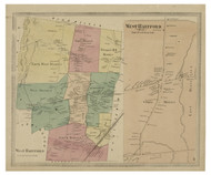 West Hartford, Connecticut 1869 Hartford Co. - Old Map Reprint