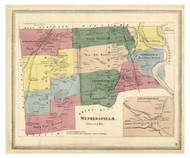 Wethersfield, Connecticut 1869 Hartford Co. - Old Map Reprint