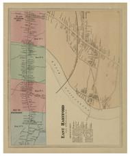 East Hartford Village, Connecticut 1869 Hartford Co. - Old Map Reprint