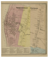 Enfield Village, Connecticut 1869 Hartford Co. - Old Map Reprint