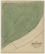 Hartford Ward 6, Connecticut 1869 Hartford Co. - Old Map Reprint