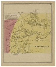 Hazardville - Hartford, Connecticut 1869 Hartford Co. - Old Map Reprint