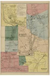 Southington Village, Connecticut 1869 Hartford Co. - Old Map Reprint
