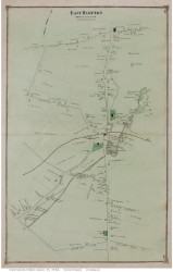 East Hampton Village, Connecticut 1874 Old Town Map Reprint - Middlesex Co.