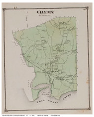 Clinton, Connecticut 1874 Old Town Map Reprint - Middlesex Co.