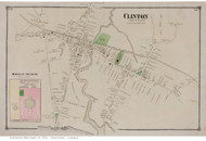 Clinton Village, Connecticut 1874 Old Town Map Reprint - Middlesex Co.