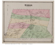 Durham, Connecticut 1874 Old Town Map Reprint - Middlesex Co.