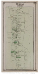 Durham Village, Connecticut 1874 Old Town Map Reprint - Middlesex Co.