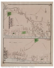 East Haddam Landing and Goodspeeds Landing Villages, Connecticut 1874 Old Town Map Reprint - Middlesex Co.