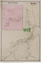 Moodus Village, Connecticut 1874 Old Town Map Reprint - Middlesex Co.