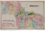 Middletown, Connecticut 1874 Old Town Map Reprint - Middlesex Co.