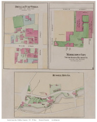 Middletown Factories, Connecticut 1874 Old Town Map Reprint - Middlesex Co.