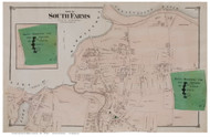 South Farms Village - Northern Part, Connecticut 1874 Old Town Map Reprint - Middlesex Co.