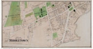 Middletown City Closeup Part 3, Connecticut 1874 Old Town Map Reprint - Middlesex Co.