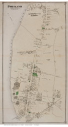 Portland Village, Connecticut 1874 Old Town Map Reprint - Middlesex Co.