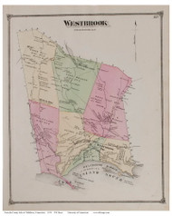 Westbrook, Connecticut 1874 Old Town Map Reprint - Middlesex Co.