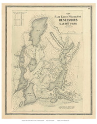 Fair Haven Reservoirs, Connecticut 1868 Old Town Map Reprint - New Haven Co.