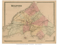 Milford, Connecticut 1868 Old Town Map Reprint - New Haven Co.