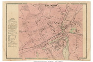 Milford Village, Connecticut 1868 Old Town Map Reprint - New Haven Co.