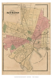 New Haven City, Connecticut 1868 Old Town Map Reprint - New Haven Co.