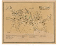 Westville Village, Connecticut 1868 Old Town Map Reprint - New Haven Co.