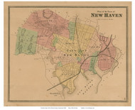 New Haven, Connecticut 1868 Old Town Map Reprint - New Haven Co.