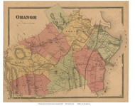 Orange, Connecticut 1868 Old Town Map Reprint - New Haven Co.