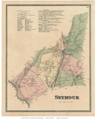 Seymour, Connecticut 1868 Old Town Map Reprint - New Haven Co.