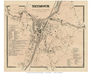 Seymour Village, Connecticut 1868 Old Town Map Reprint - New Haven Co.