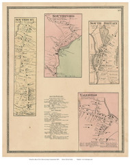 Southbury, Southford, South Britain, and Yalesville Villages, Connecticut 1868 Old Town Map Reprint - New Haven Co.