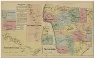 Mansfield, Connecticut 1869 Tolland Co. - Old Map Reprint