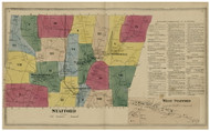 Stafford, Connecticut 1869 Tolland Co. - Old Map Reprint