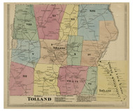 Tolland, Connecticut 1869 Tolland Co. - Old Map Reprint