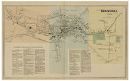 Rockville Village - Vernon, Connecticut 1869 Tolland Co. - Old Map Reprint